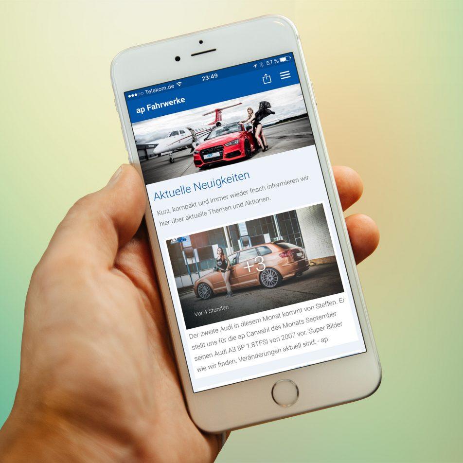 AP Sportfahrwerke Smartphone-App