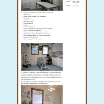 Tierarztpraxis Webseite